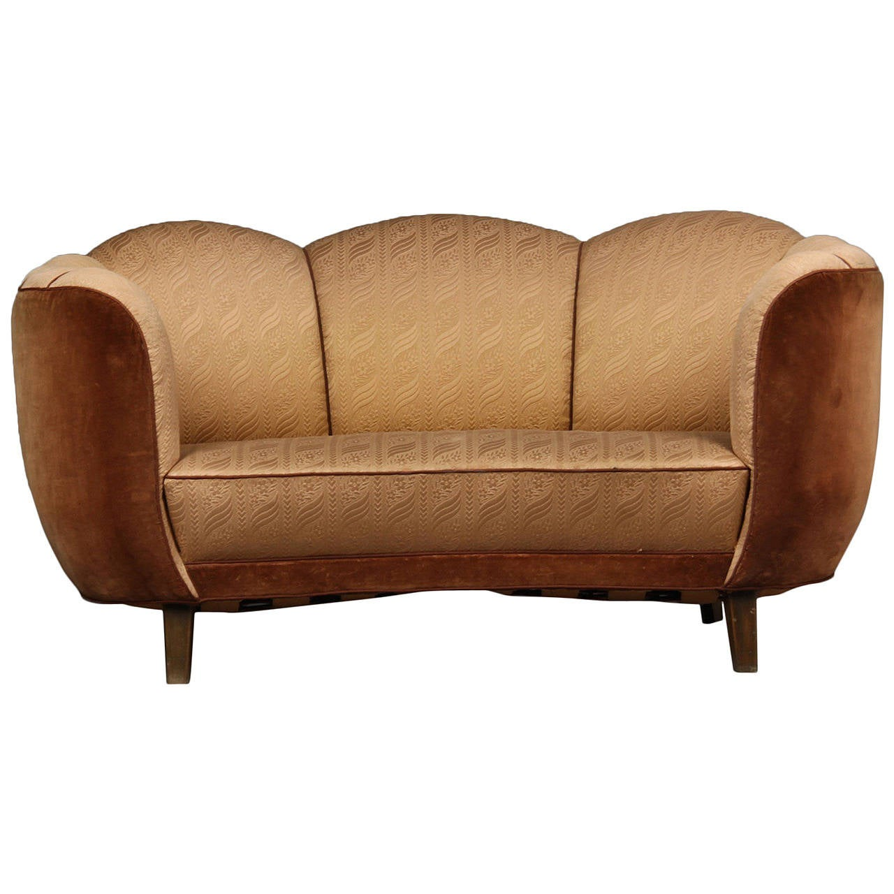Swedish Art Deco Curved Sofa At 1stdibs