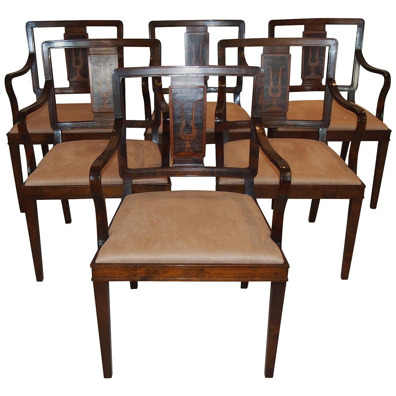 Set of Swedish Grace Armchairs