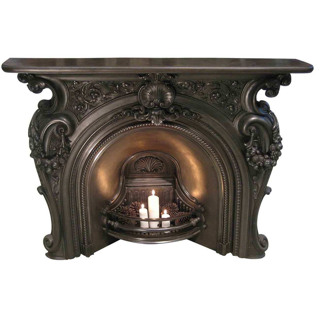 Mid Victorian Cast Iron Fire Place At 1stdibs