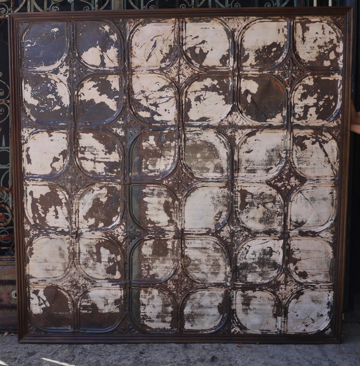 Pressed Metal Wall Panel At 1stdibs