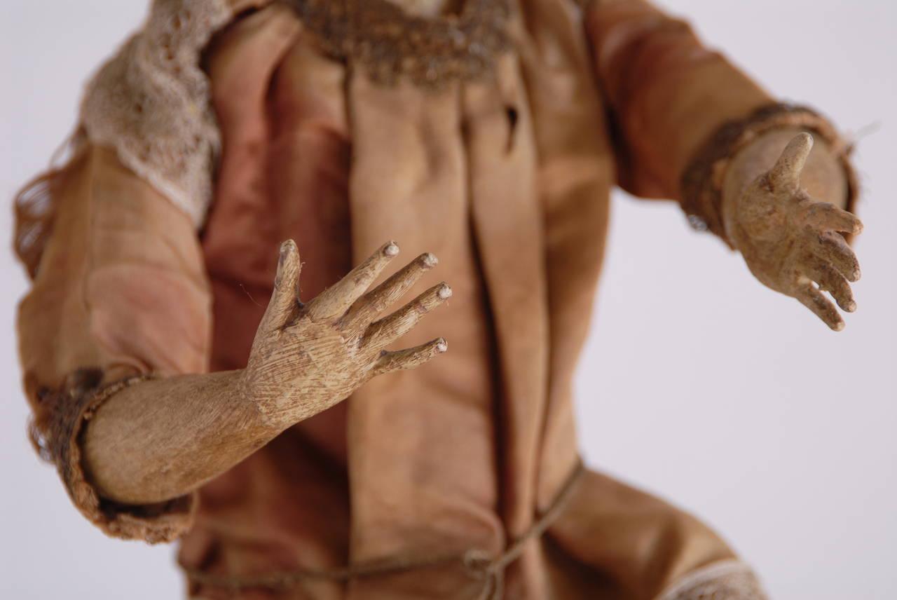 Renaissance 19th Century Italian Nativity Female Figure For Sale