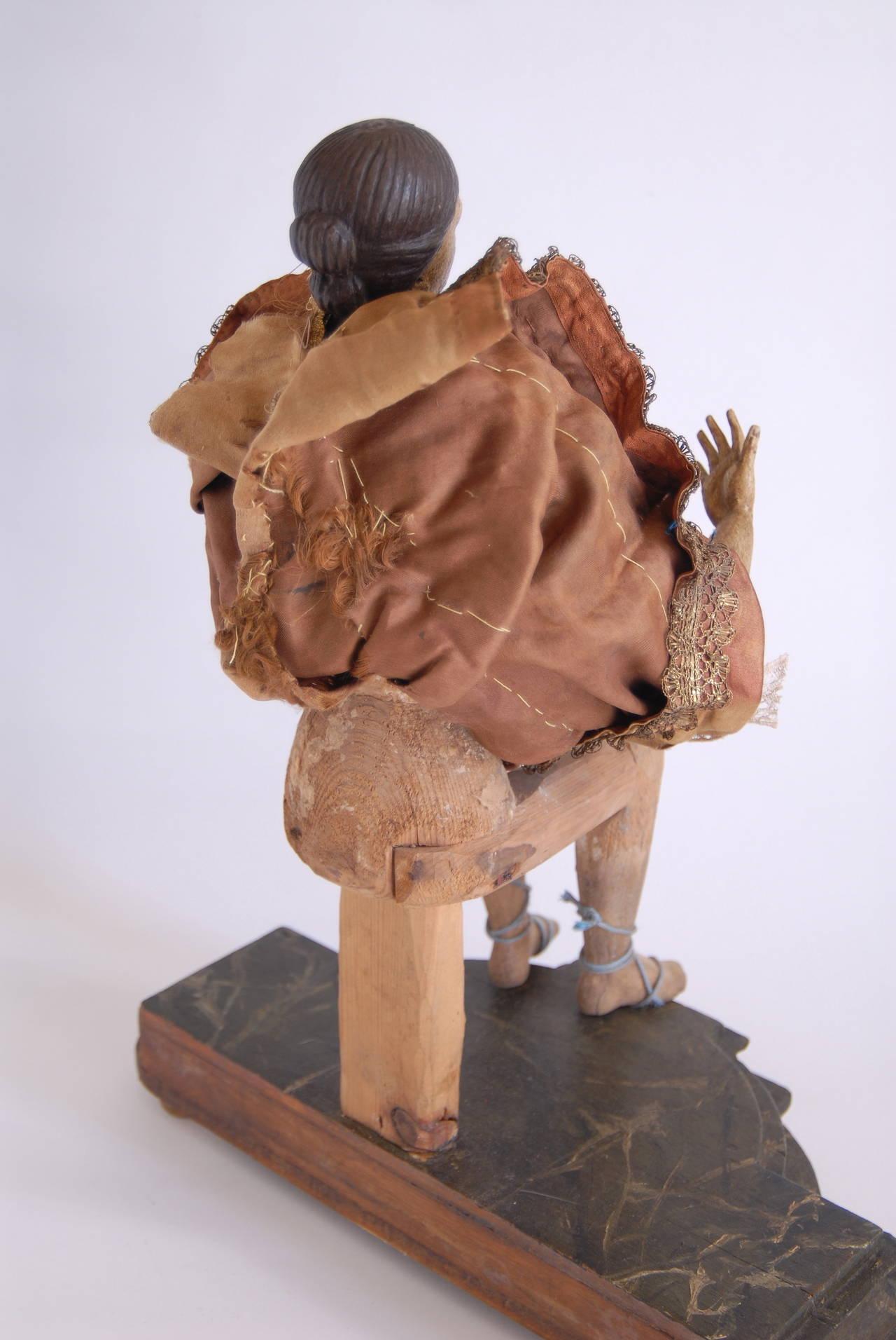 19th Century Italian Nativity Female Figure For Sale 1