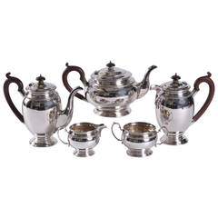 Mid-20th Century Silver Tea and Coffee Service by Hardy Bros