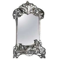 American Art Deco Modernist Vanity Or Table Mirror At 1stdibs