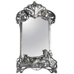 Art Nouveau WMF Silver Plated Toilet Mirror, circa 1906