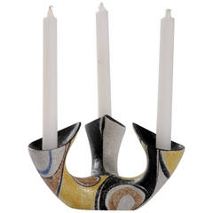Mid-century Ruscha Milano tri candle holder, West Germany.