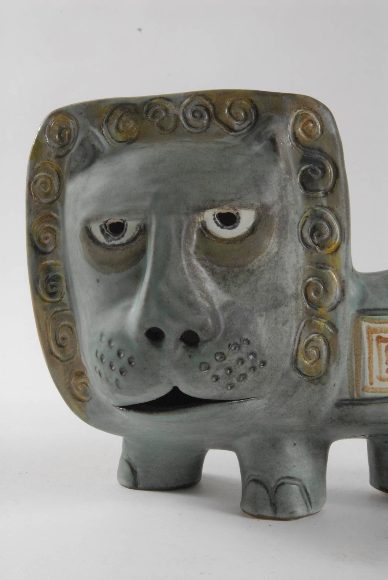 Mid Century Gus Mclaren Leo The Lion Ceramic At 1stdibs
