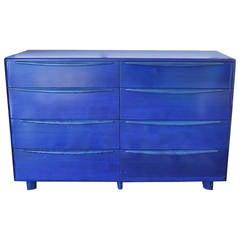 Heywood Wakefield Encore Dresser in Cobalt Blue Stain