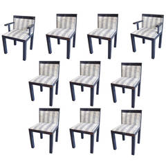 Set of Ten Teatro Lacquered Dining Chairs by Aldo Rossi Molteni & C, 1980s