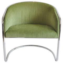 Thonet Chrome Tub Chair