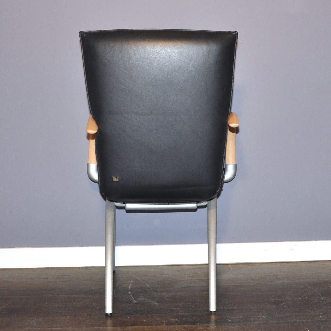 set of four rolf benz black leather armchairs 4 armchairs seating rolf benz