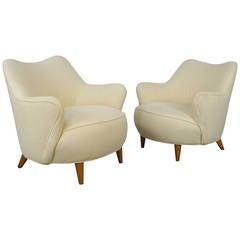 Barrel Lounge Chairs by Vladimir Kagan