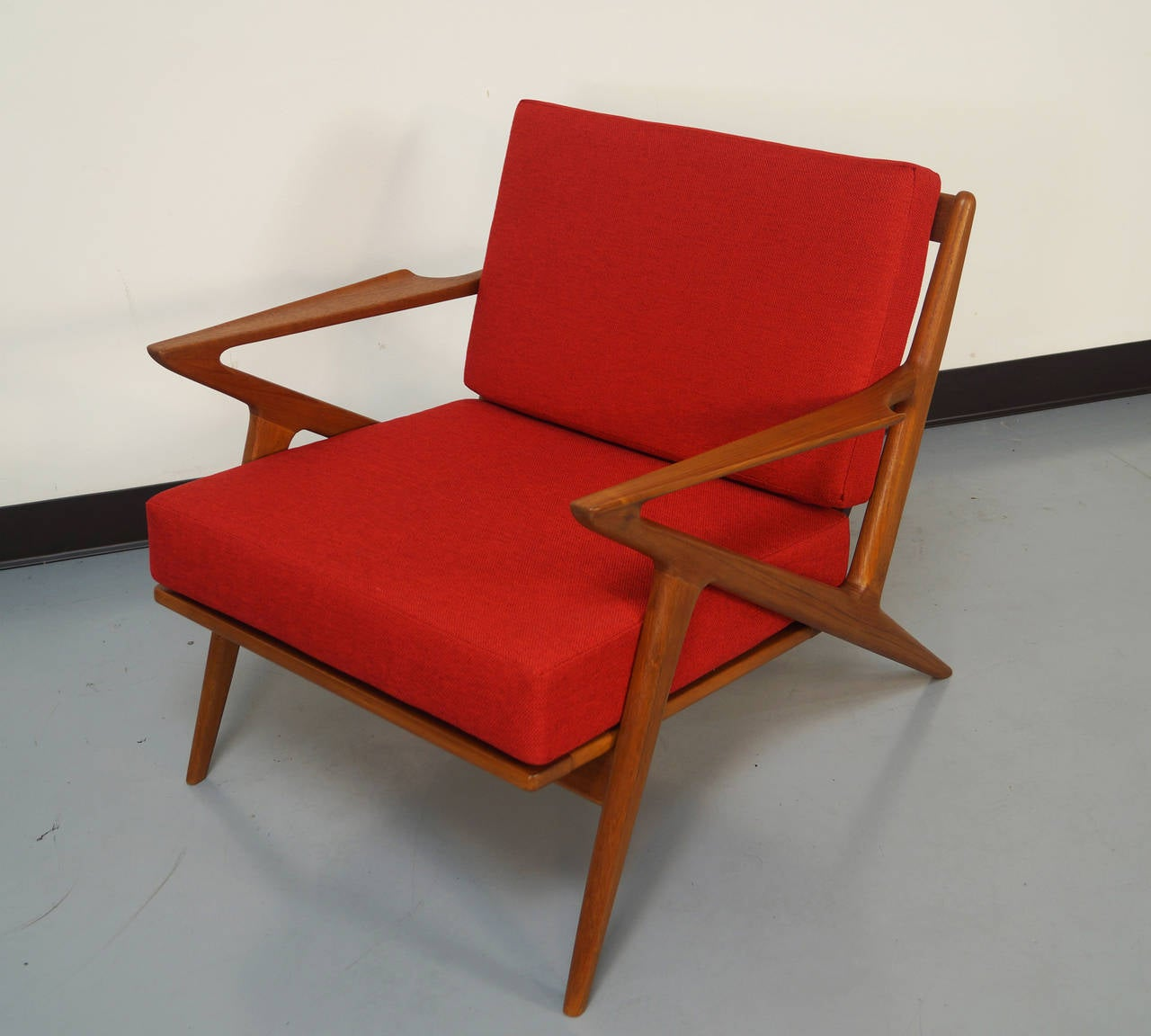 "Poul Jensen for Selig ""Z"" Lounge Chairs at 1stdibs"