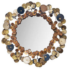 """Vintage """"Raindrops"""" Wall Mirror by Curtis Jeré"""