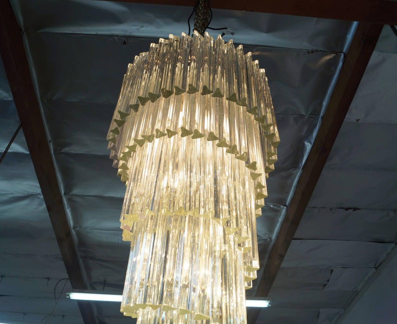 Spiral murano glass chandelier by venini for sale at 1stdibs - Kristallleuchter modern ...
