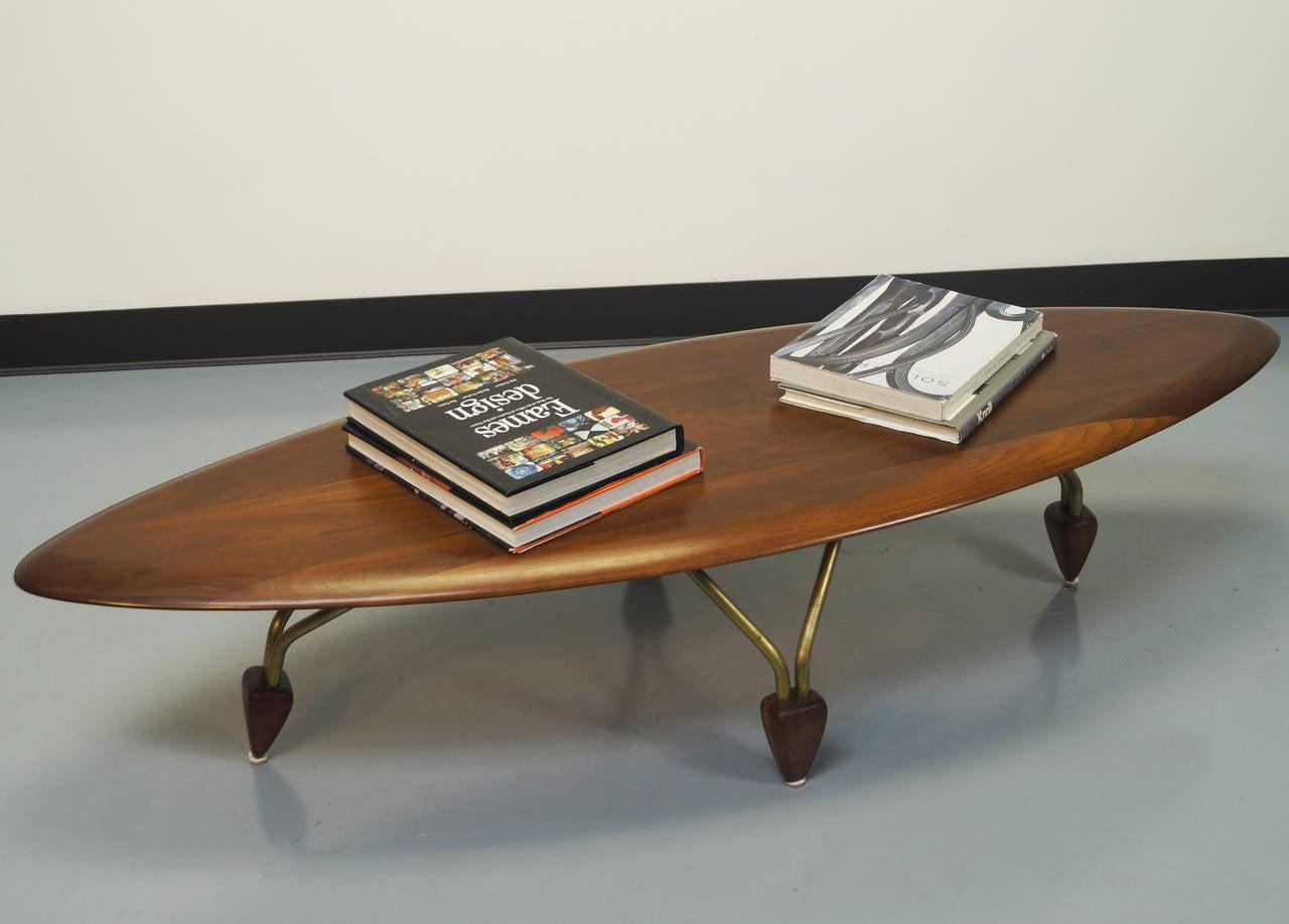 Vintage surfboard coffee table