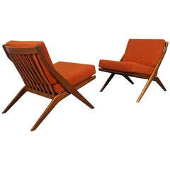 """""""Scissor"""" Lounge Chairs by Folke Ohlsson for DUX"""