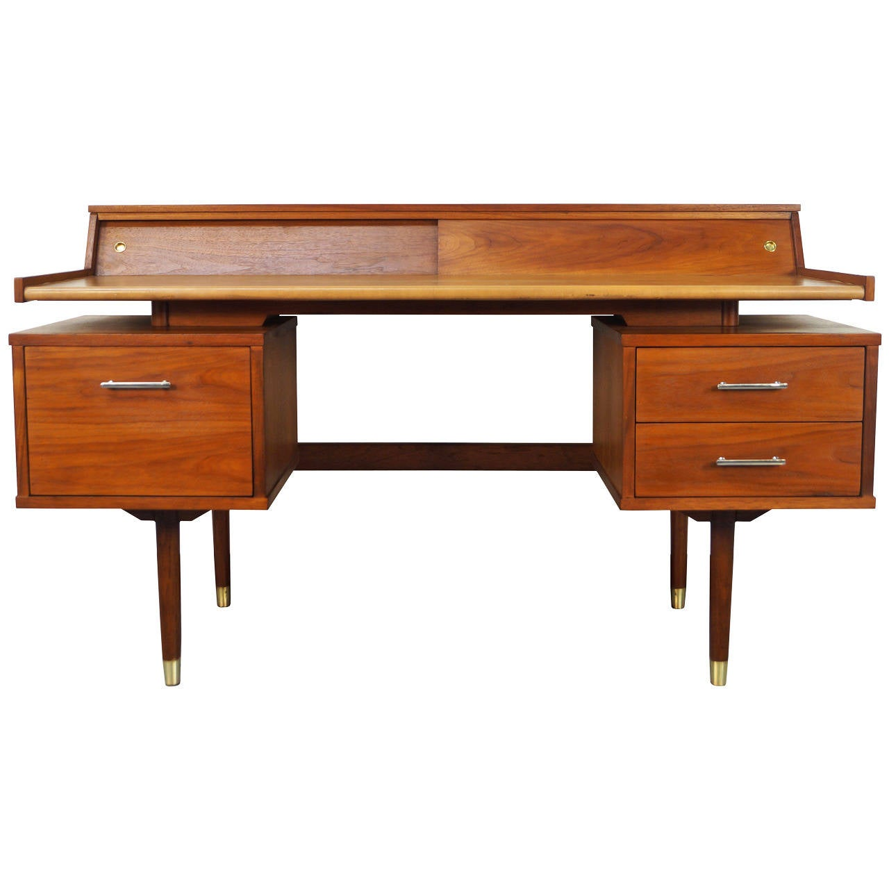 Drexel Quot Biscayne Quot Floating Leather Top Desk At 1stdibs