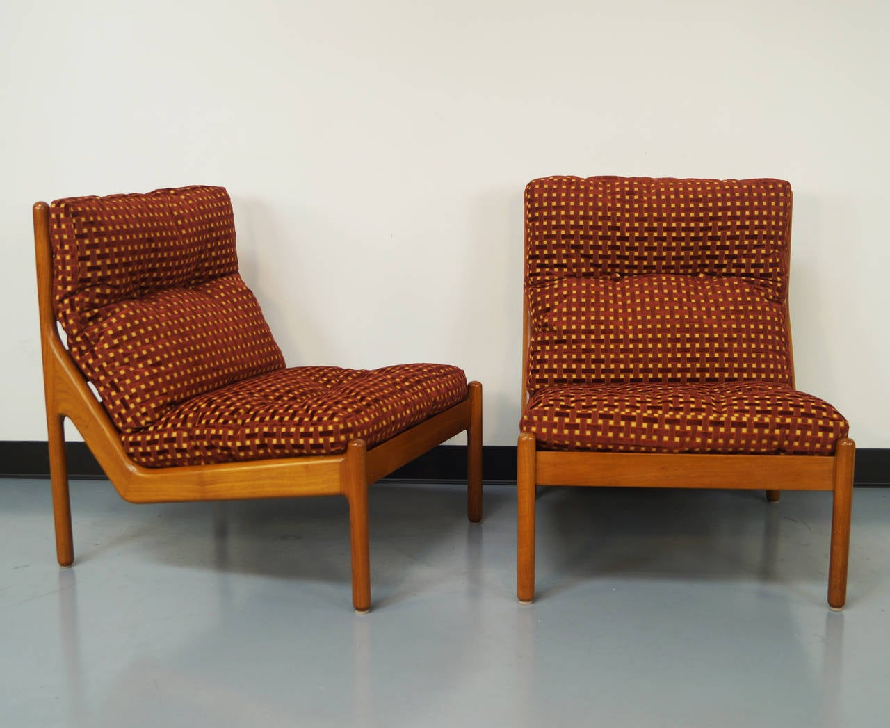 Danish Teak Lounge Chairs by Niels Bach For Sale at 1stdibs