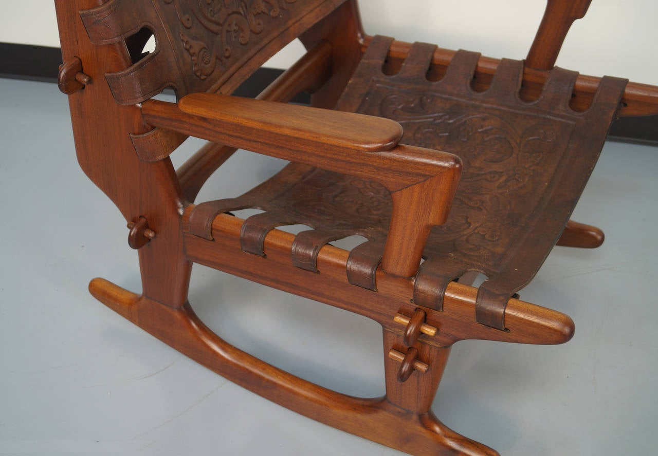 Vintage Rocking Chair And Ottoman By Angel Pazmino At 1stdibs