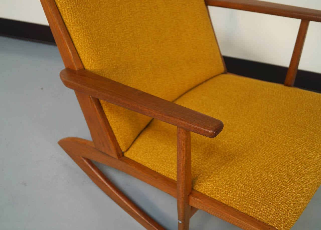Danish Teak Boomerang Rocking Chair by Georg Jensen at 1stdibs