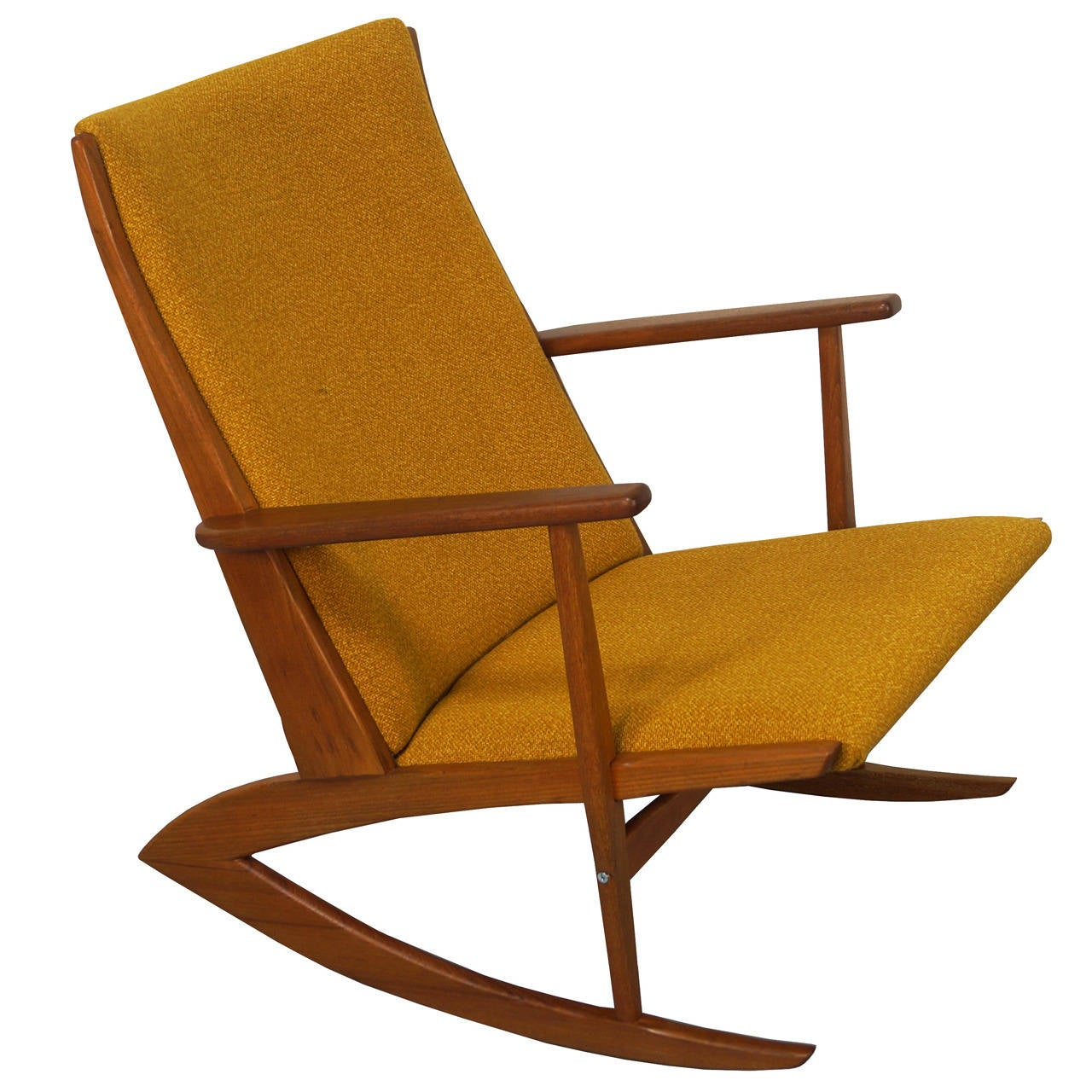 danish teak boomerang rocking chair by georg jensen at 1stdibs. Black Bedroom Furniture Sets. Home Design Ideas