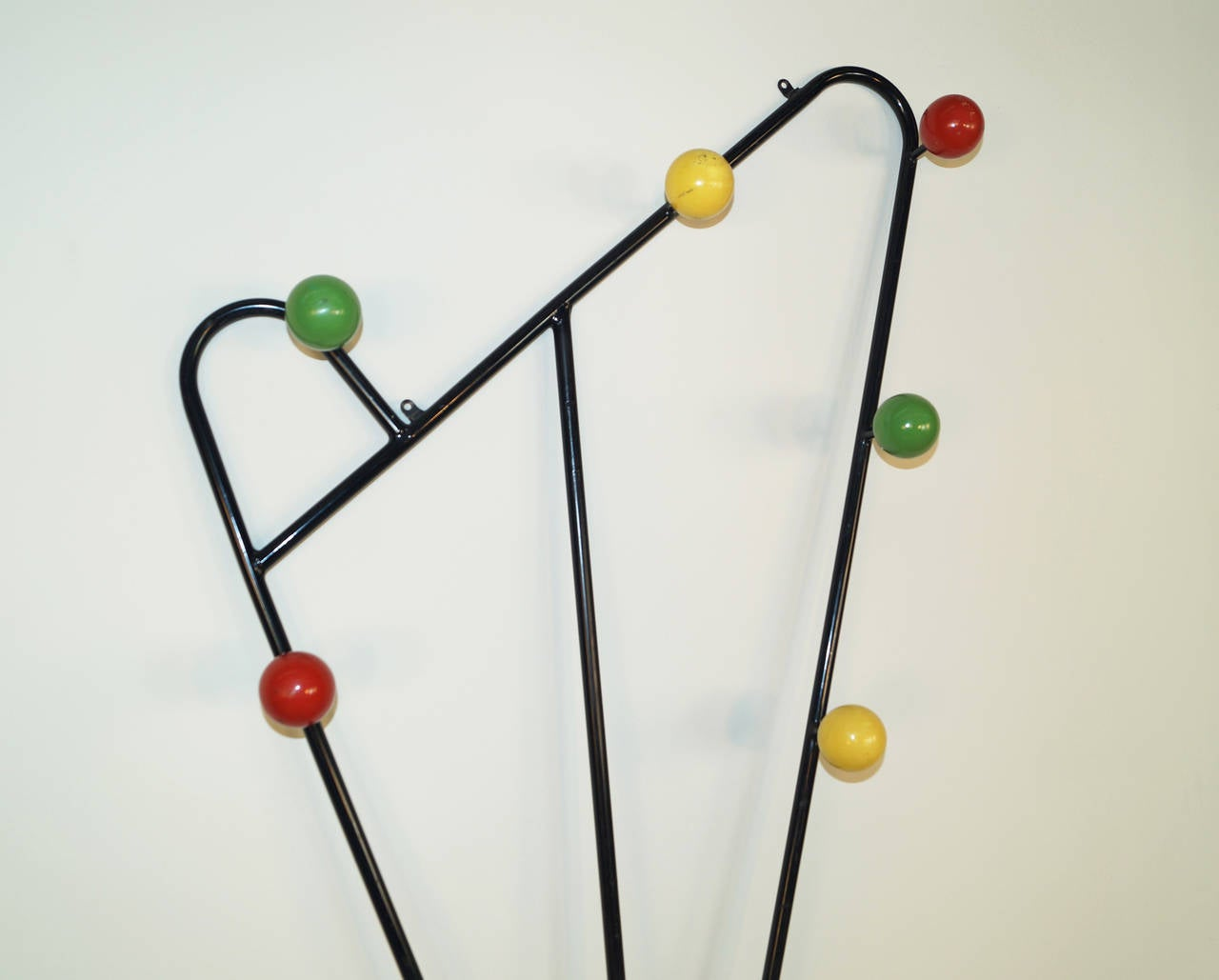 vintage french wallmounted coat rack 2