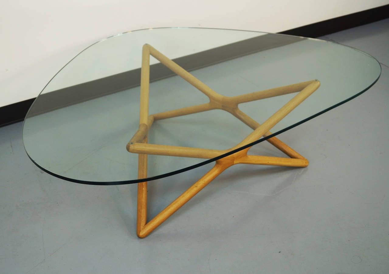 Vintage geometric glass coffee table at 1stdibs for Geometric coffee table