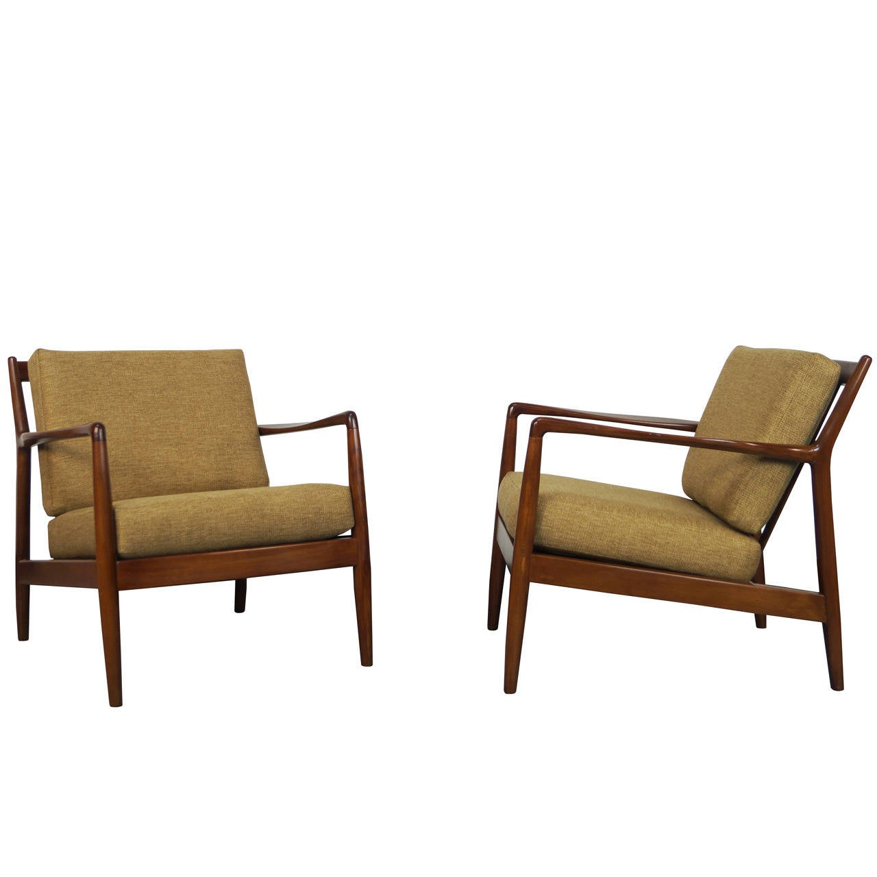 midcentury lounge chairs by folke ohlsson at stdibs - midcentury lounge chairs by folke ohlsson