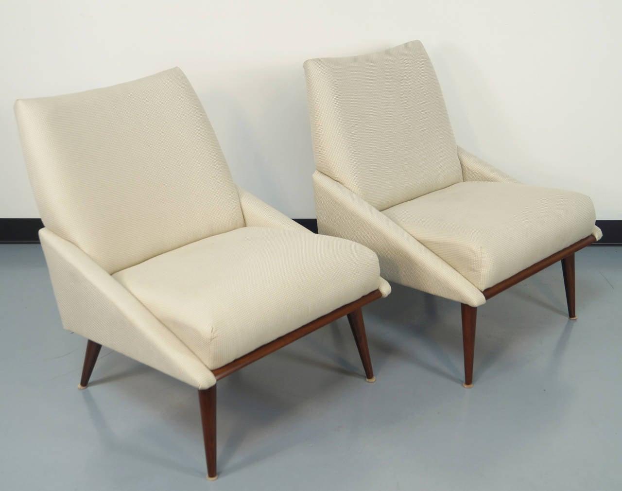 Vintage Slipper Chairs by Kroehler 2 - Vintage Slipper Chairs By Kroehler At 1stdibs