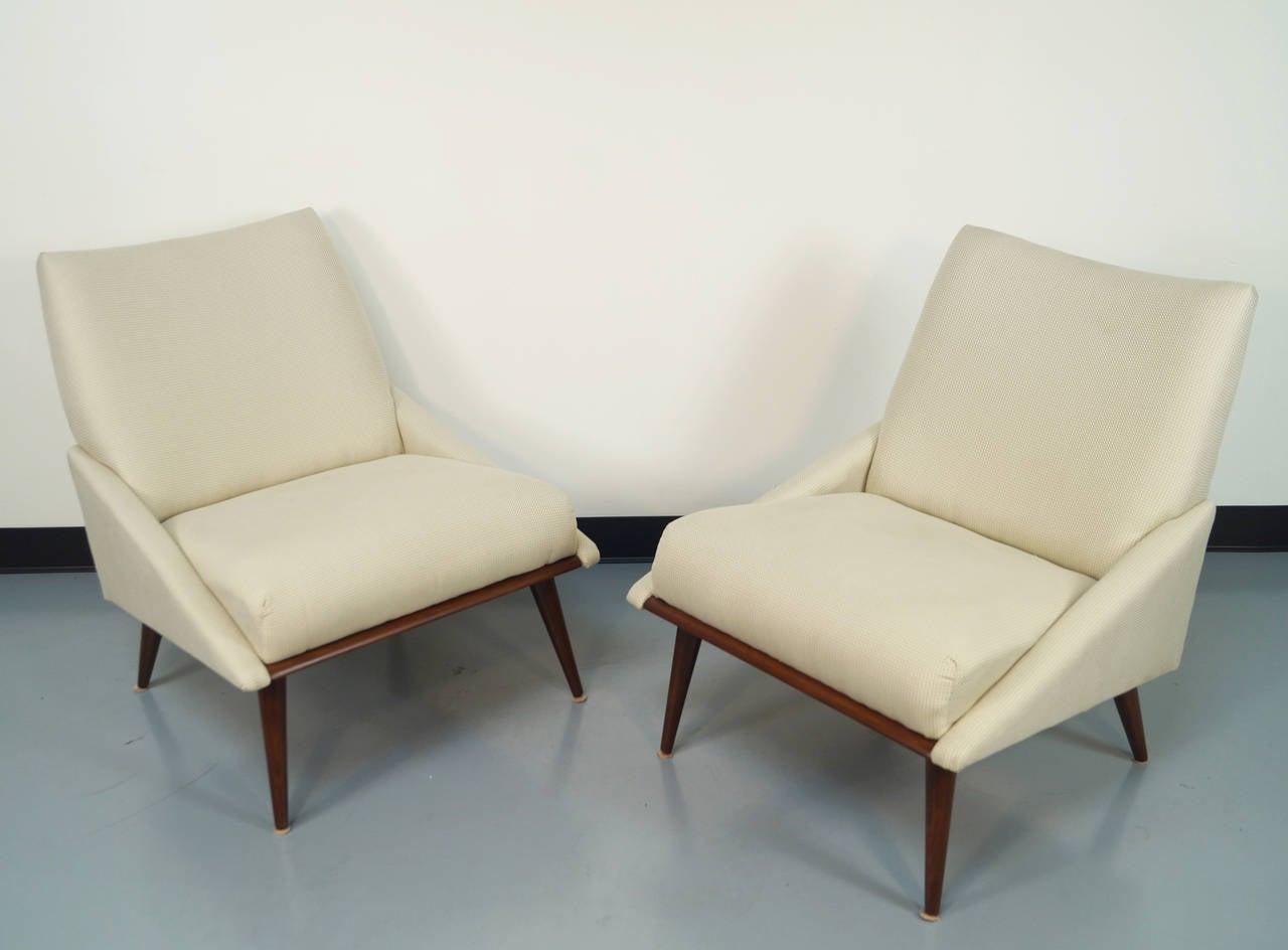 vintage slipper chairs by kroehler at 1stdibs