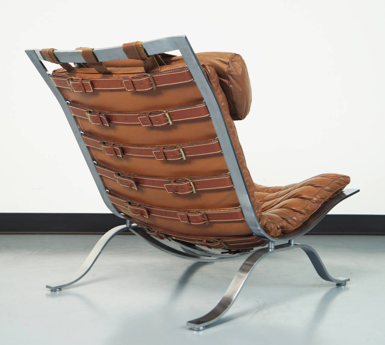 Quot Ari Quot Leather Lounge Chair By Arne Norell Image 5