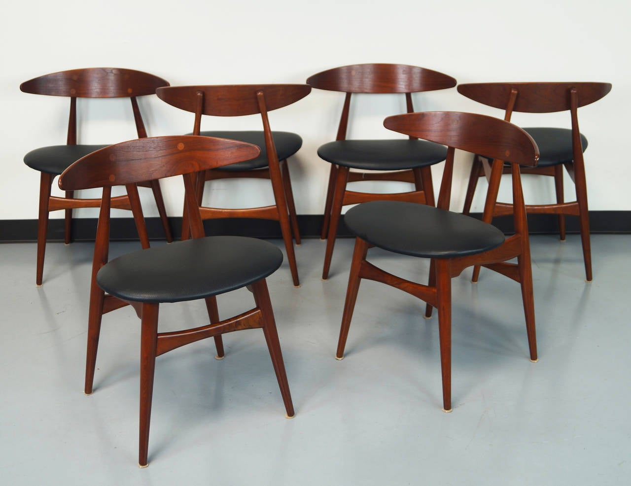 Good Danish CH 33 Dining Chairs By Hans J. Wegner 2