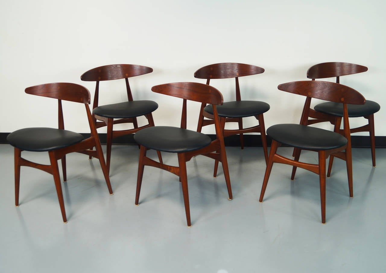 Danish CH 33 Dining Chairs By Hans J. Wegner 3