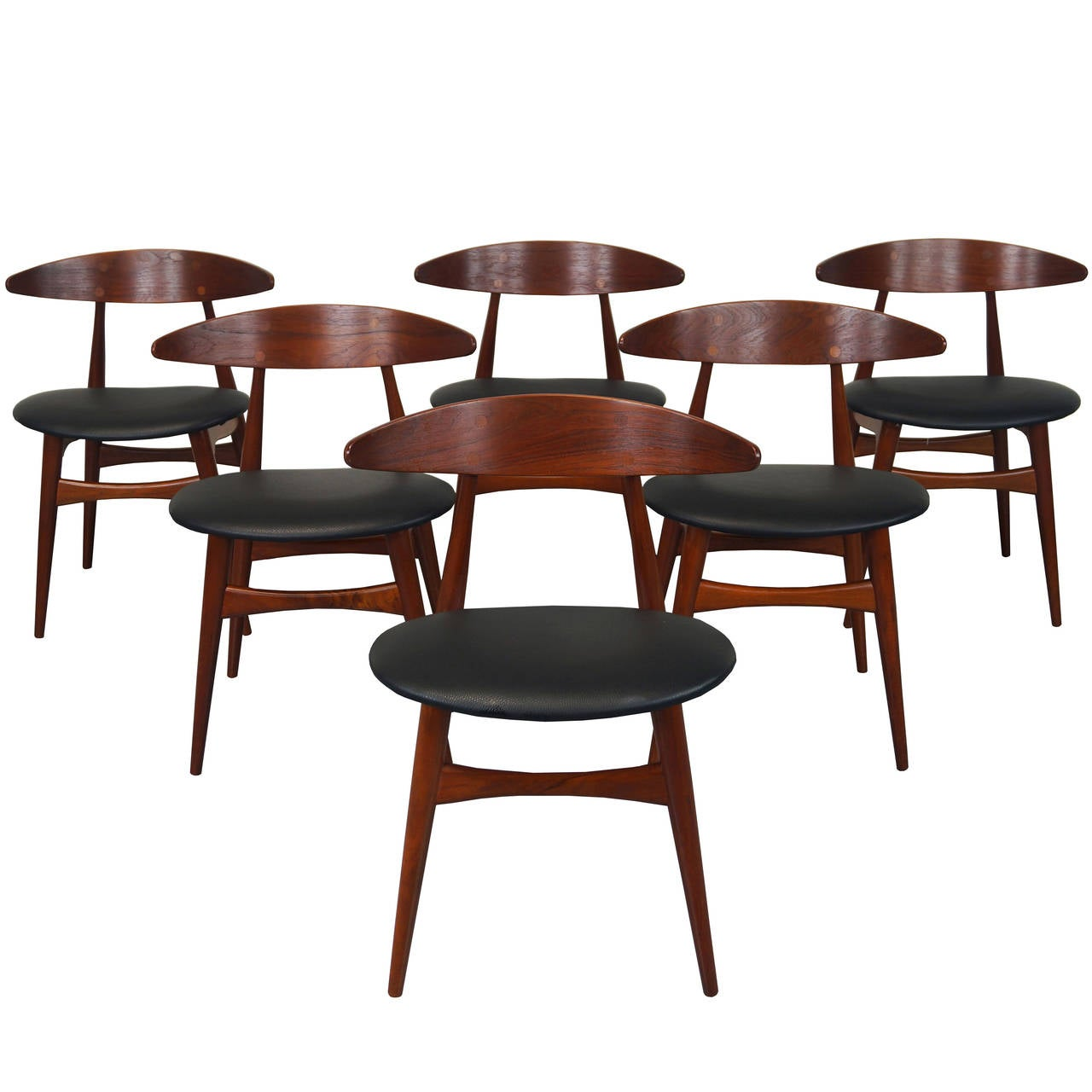 danish ch 33 dining chairs by hans j wegner at 1stdibs. Black Bedroom Furniture Sets. Home Design Ideas
