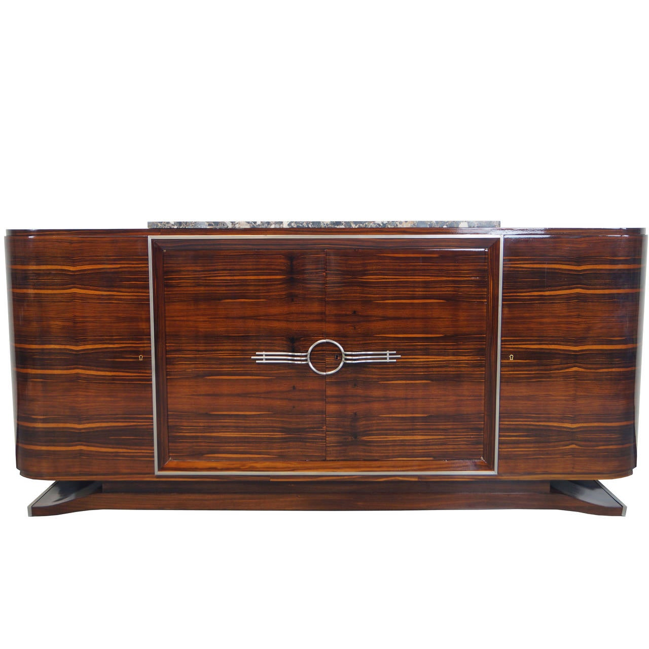 french art deco sideboard at 1stdibs. Black Bedroom Furniture Sets. Home Design Ideas