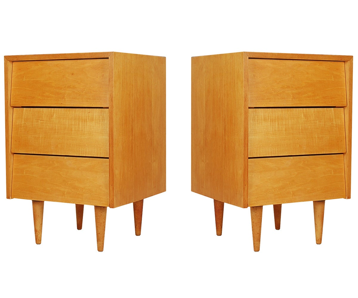 Pair Of Florence Knoll For Knoll Associates Nightstands At