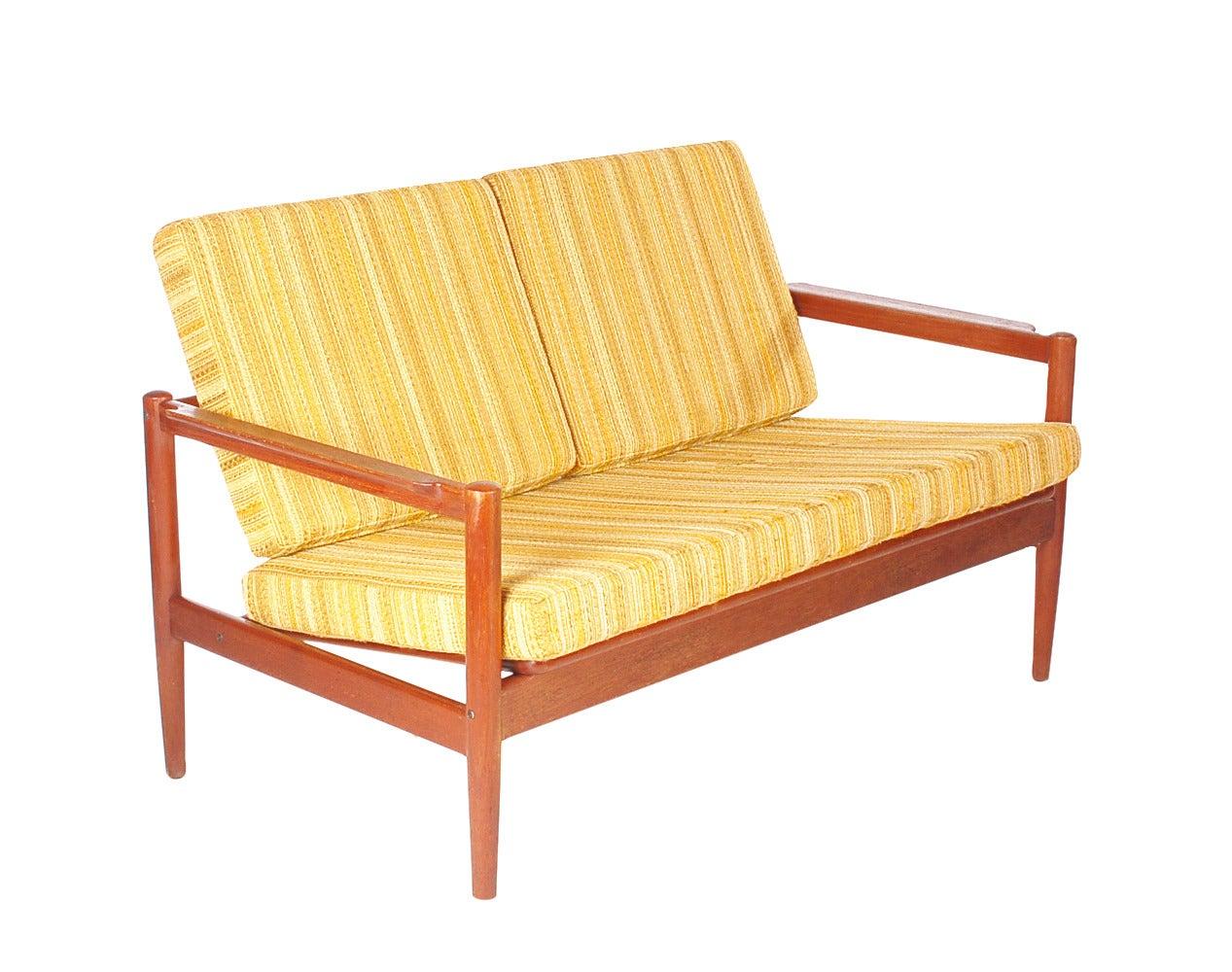 Danish modern teak sofa by borge jensen settee at 1stdibs for Danish modern settee