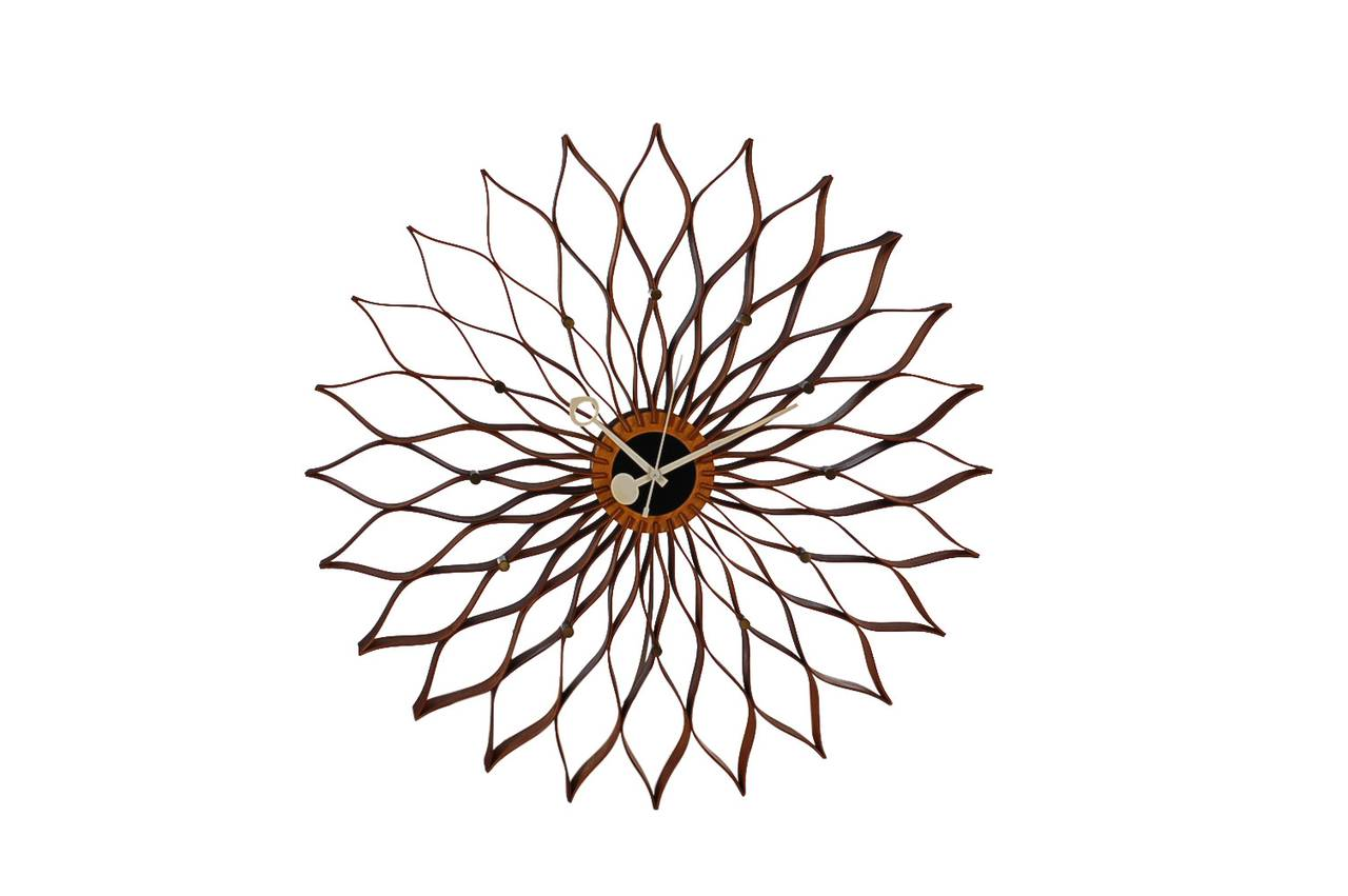 Early And Original Sunflower Clock Designed By George Nelson For Howard  Miller Clock Company. It