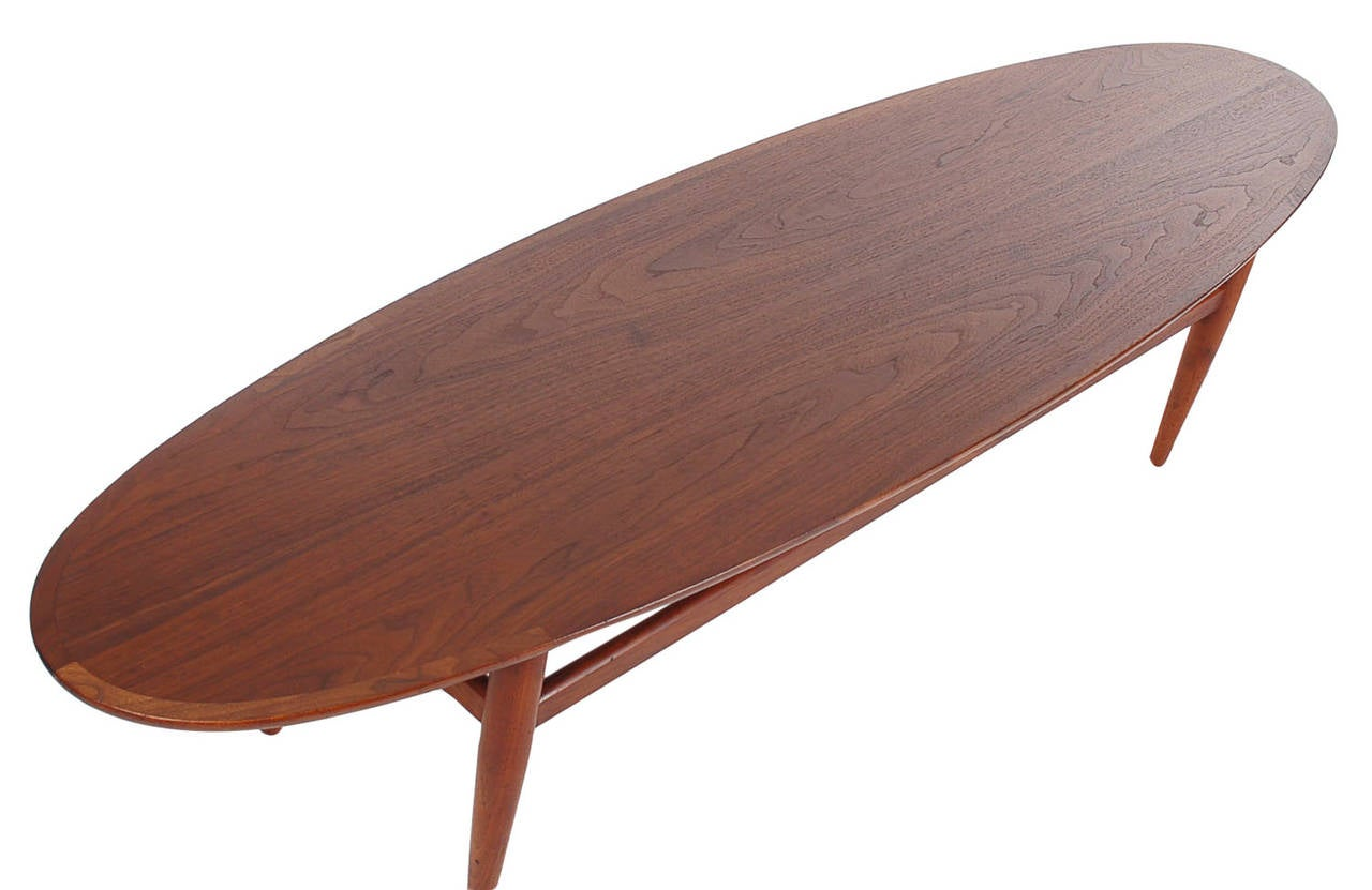 Mid Century Danish Modern Style Surfboard Coffee Table In