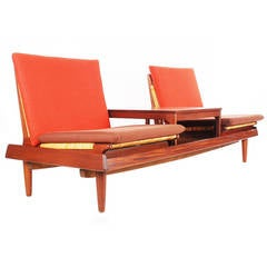 Danish Modern Teak Modular Sofa by Hans Olsen for Bramin
