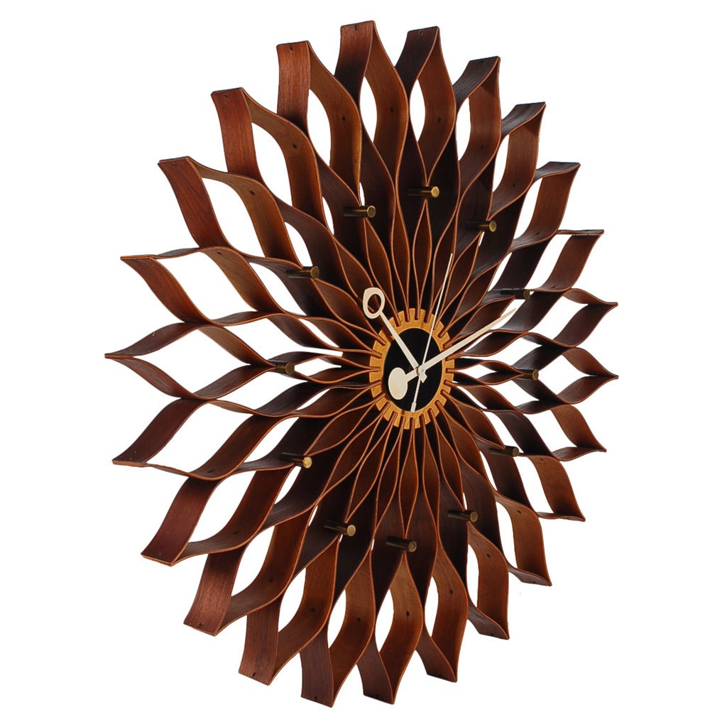 Mid Century Modern Sunflower Wall Clock By George Nelson For Howard Miller 1