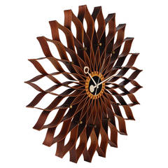 Mid Century Modern Sunflower Wall Clock by George Nelson for Howard Miller