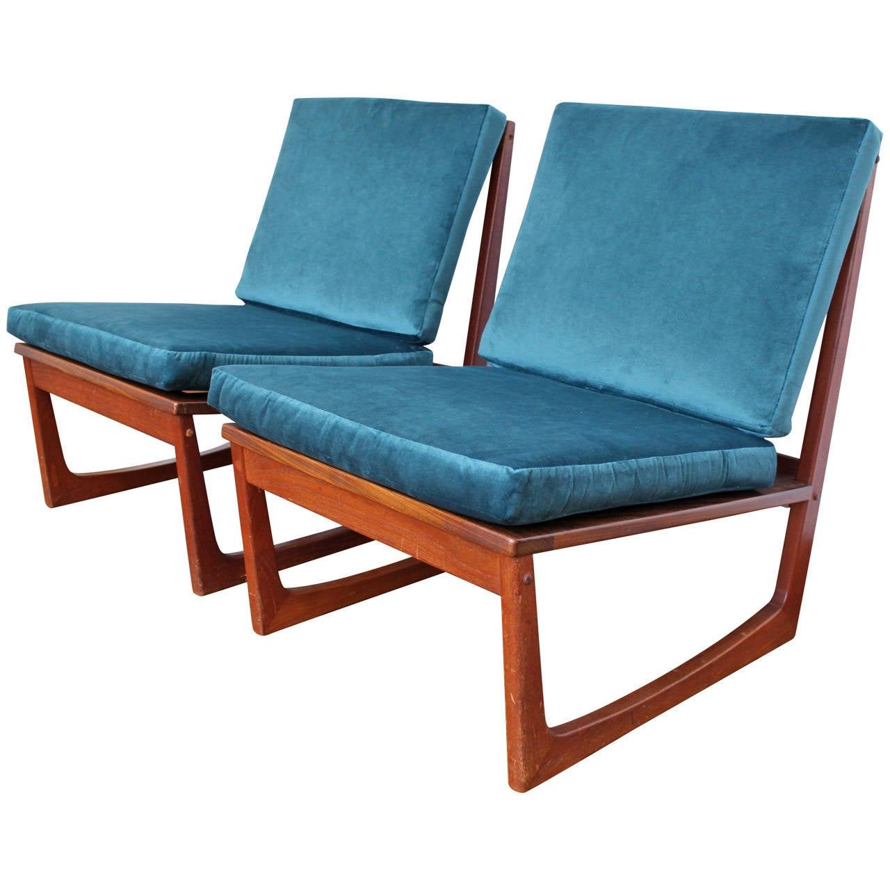 Pair Of Danish Teak Mid Century Chairs By Jacob Kjaer At 1stdibs