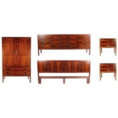 Mid-Century Danish Modern Rosewood Bedroom Suite