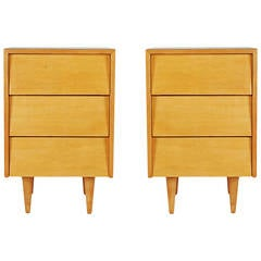 Pair of Florence Knoll for Knoll Associates Nightstands