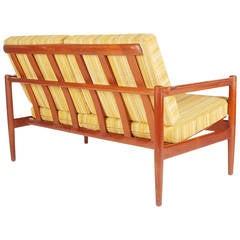 Mid Century Modern Danish Teak Sofa by Borge Jensen Settee