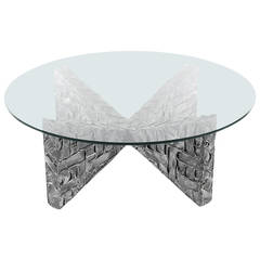 Mid Century Modern Adrian Pearsall Brutalist Coffee Table after Paul Evans