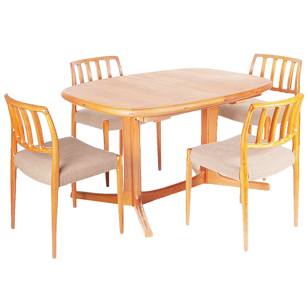 Mid Century Modern Dining: Mid Century Modern Danish Teak Dining Chairs And Table By