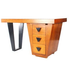 Mid-Century Modern Desk Attributed to Paul Laszlo for Brown Saltman